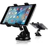 Car Tablet Holder, Tablet Dash Mount iPad Stand Holder for Car Windshield Dashboard Universal Tablet Car Mount with Suction C