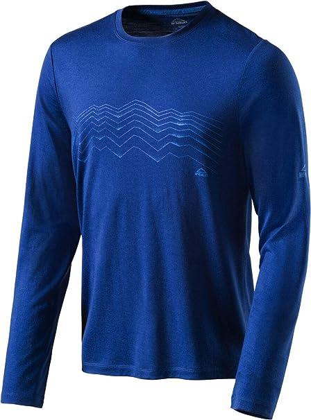 McKinley Kara - Camiseta de Manga Larga para Hombre, Hombre, Azul Marino, Medium