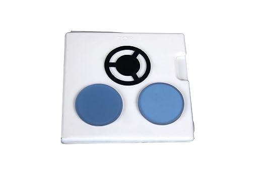 Radical stück blau frosted filter w darkfield stop für biologie