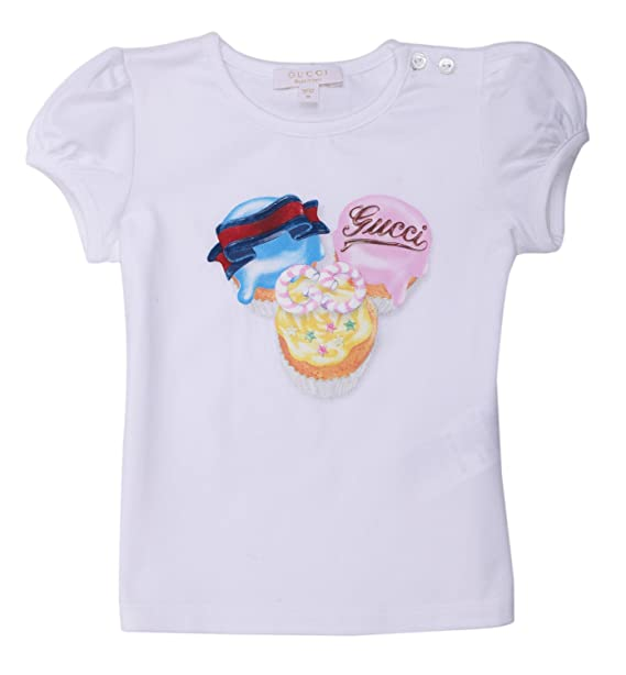 Gucci - Camiseta de Manga Corta - para niño Blanco XXL: Amazon.es: Ropa y accesorios