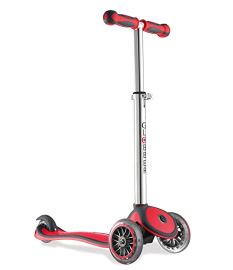 Globber My Free Up -Wheels Scooter BI-Inject- Patinete, color Rojo, talla Única