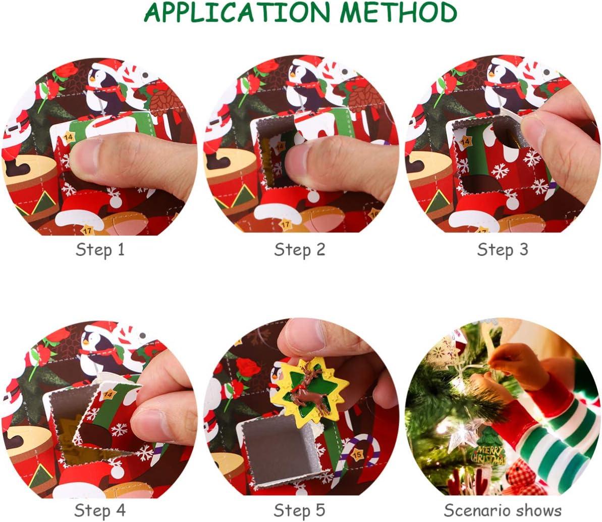 24 giorni per Natale Calendario dellAvvento natalizio con decorazioni da appendere STOBOK