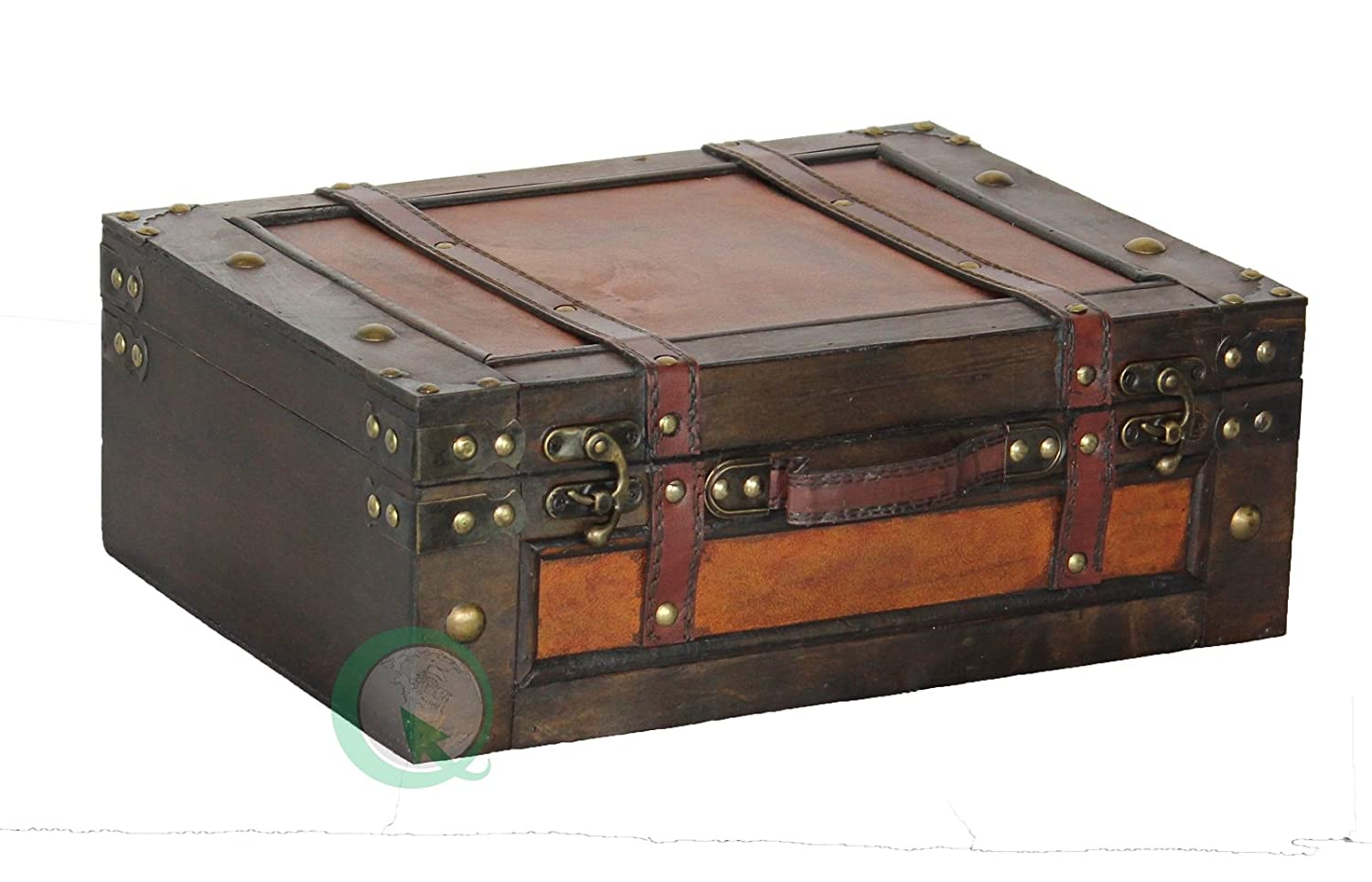 Old Style Suitcase With Straps, Large