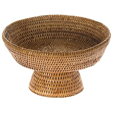 KOUBOO 1010067 La Jolla Rattan Fruit Bowl, 10.5 inches x 10.5 inches x 6.5 inches, Honey Brown
