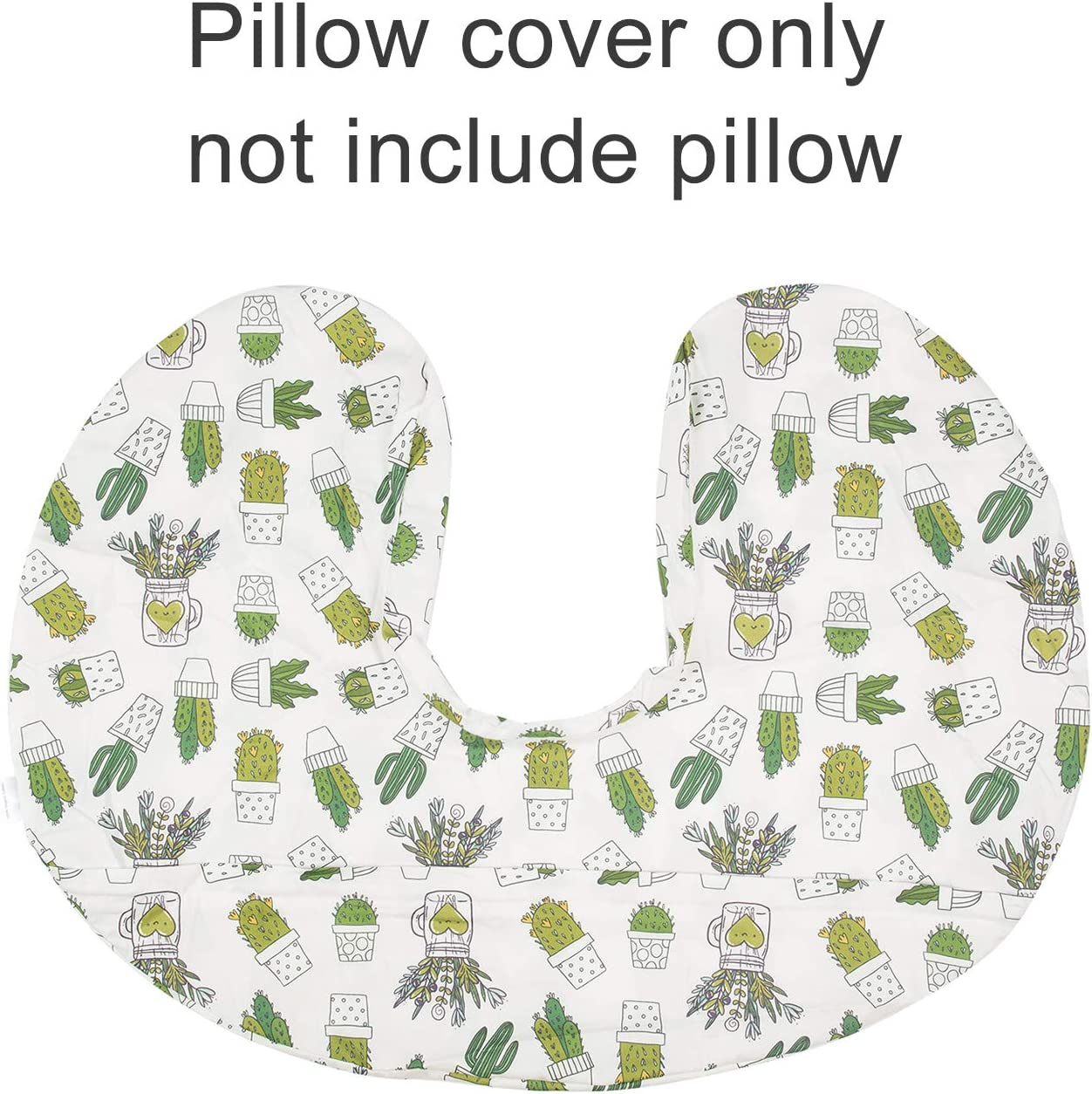ALVABABY Nursing Pillow Cover Slipcover 100/% Organic Cotton Soft and Comfortable Maternity Breastfeeding Newborn Infant Feeding Cushion Cover Baby Shower Gift 2UBZTW08-CA