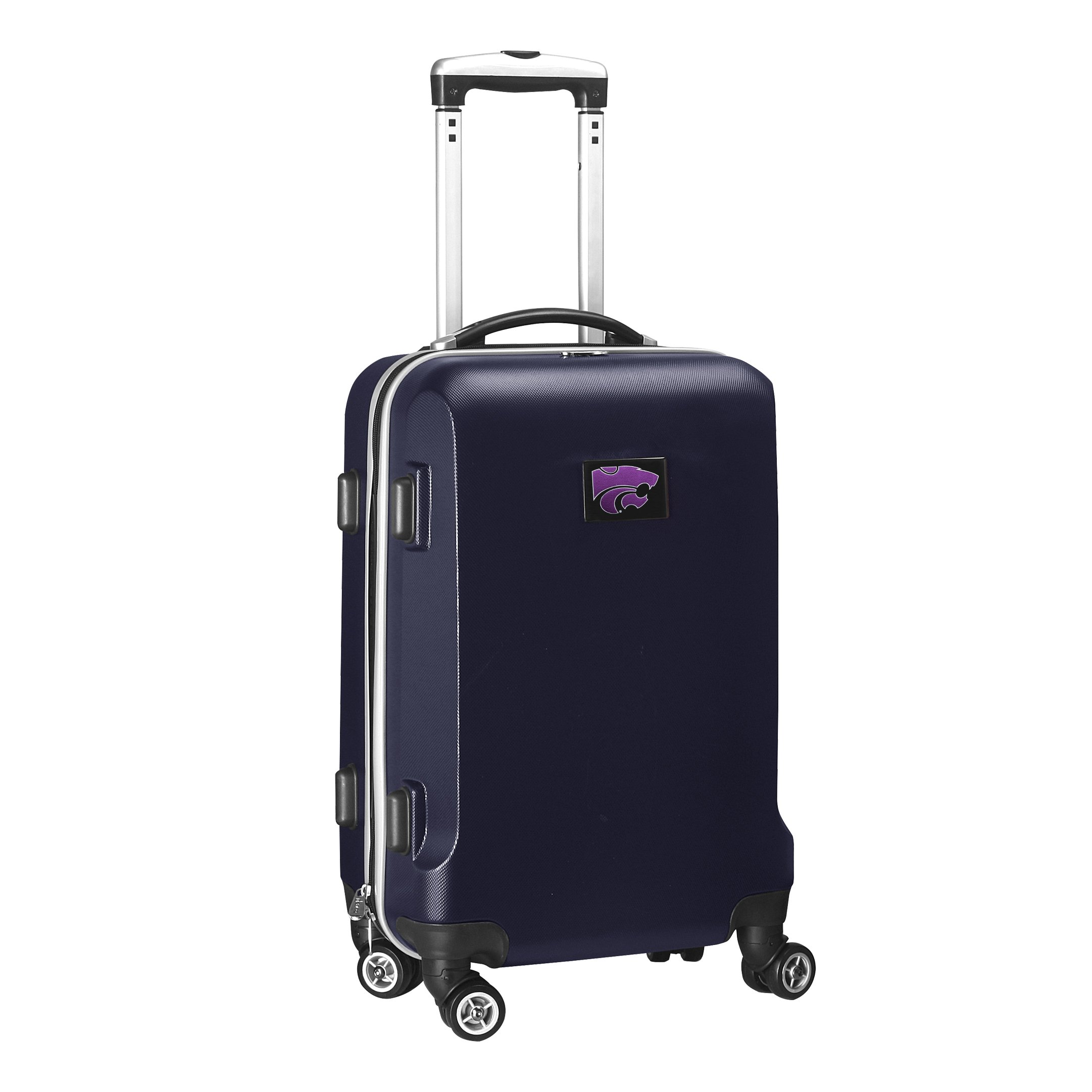 Denco NCAA Kansas State Wildcats Carry-On Hardcase Luggage Spinner, Navy