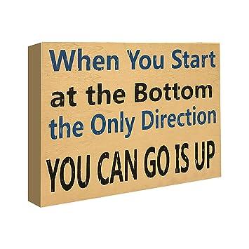 Amazoncom Jennygems Stand Up Sign Motivational Life Quotes