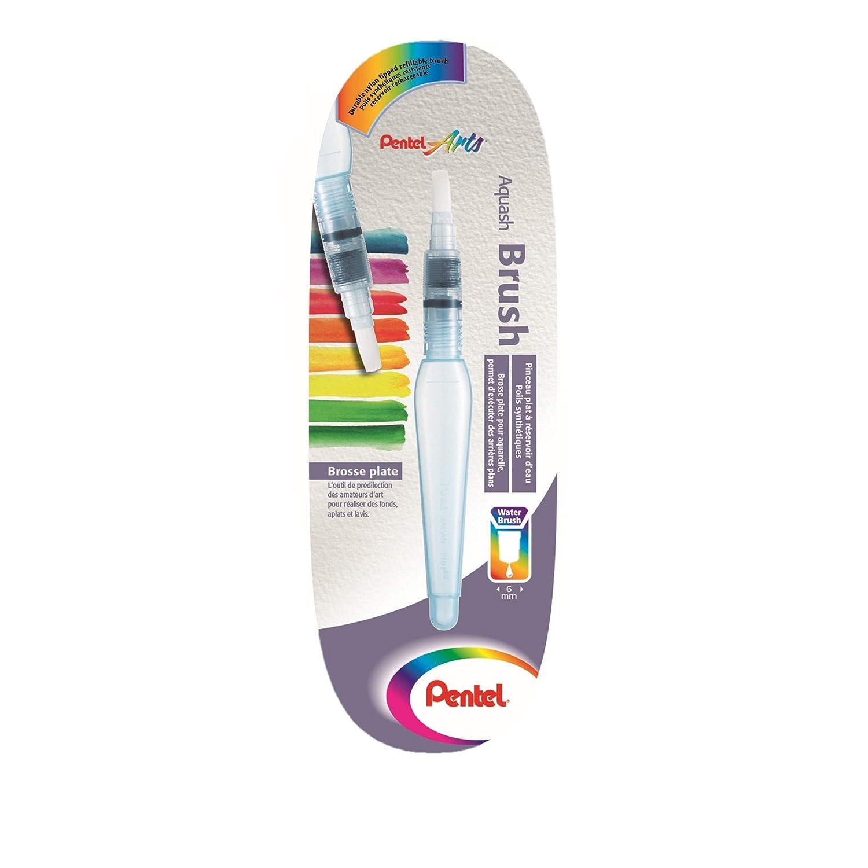 rund mittel Pentel XFRH//1-MM Aquash Wassertankpinsel mit hochwertiger Nylon-Spitze kurzes Geh/äuse