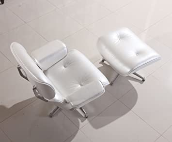 Swell Modecor Eames Lounge Chair Und Ottomane In Perlweiss Mit Alphanode Cool Chair Designs And Ideas Alphanodeonline