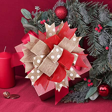 rosa rosso con fiocco decorazione per la casa Ciondolo grande per albero di Natale WSDF decorazione per albero di Natale per feste di Natale