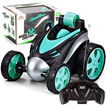 Mrocioa RC Cars for Kids Boys Remote Control Toys 1/24 Scale ,Wireless Race Car That go Fast,360°Rotating Tumbling Stunt Dump (Blue)