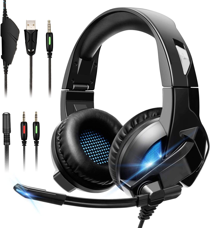 ELEGIANT Auriculares Gaming, Cascos Gaming PS4 con Micrófono Gamer ...