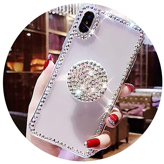 a68938aac2 Image Unavailable. Image not available for. Color: Bling Clear Phone Case  for iPhone X 8 7 6 6S Plus XR XS MAX Thin