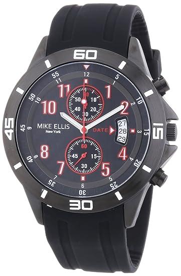 Mike Ellis New York M3096/1 - Reloj de Pulsera Hombre, Silicona, Color Negro: Amazon.es: Relojes