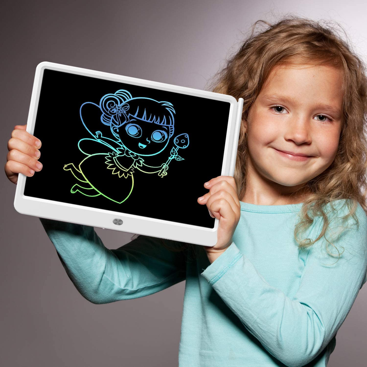 Doodle Board Electronic Digital Drawing Tablet for Adults and Kids Ages 3+ LCD Writing Tablet 15 Inches Colorful Screen Drawing Pad