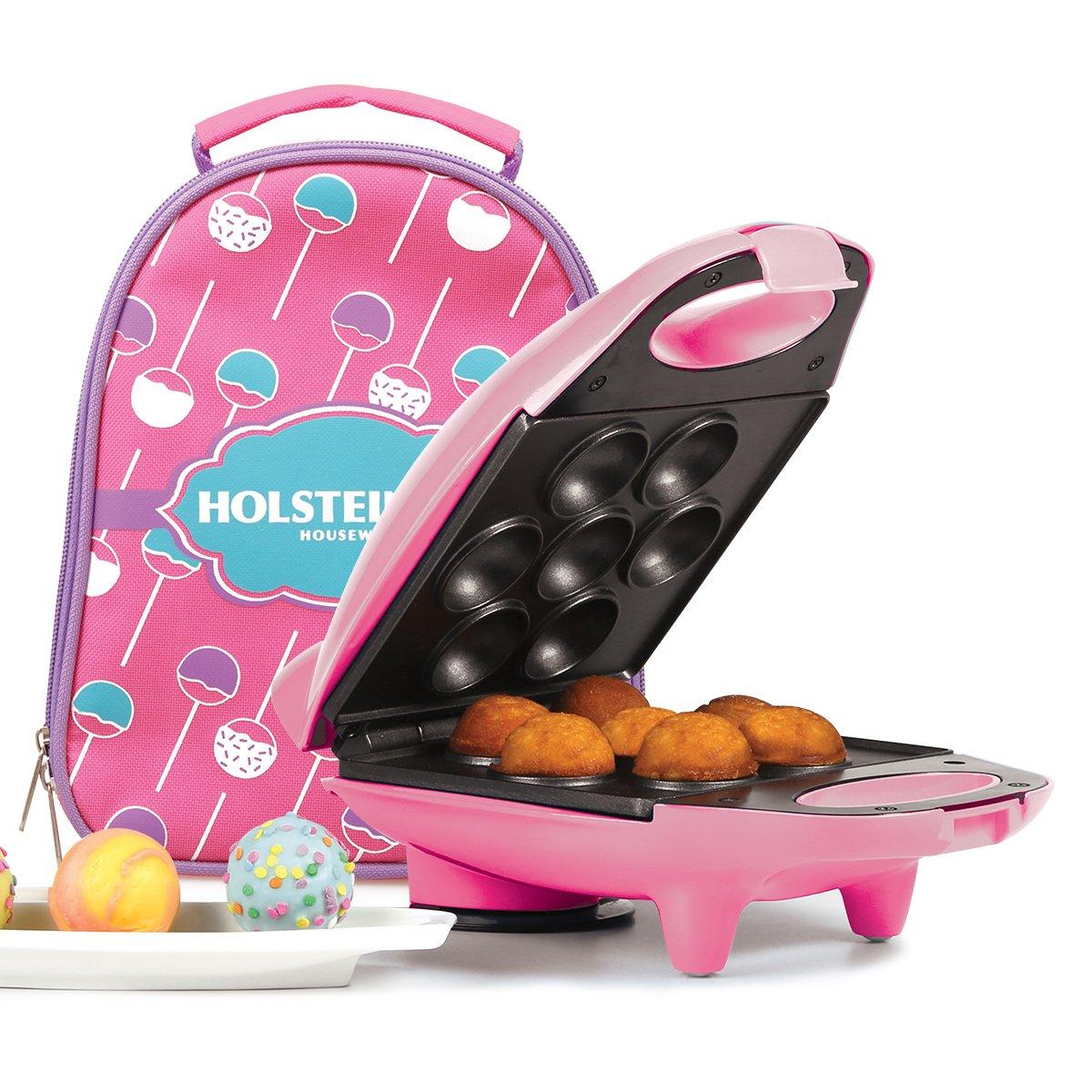 Holstein Housewares HM-09104V-BU Mini Cake Pop Maker Kit - Pink