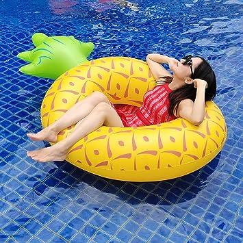 Nadar Juguetes para Fiestas Balsa Inflable Piña Flotante Fila Cama ...