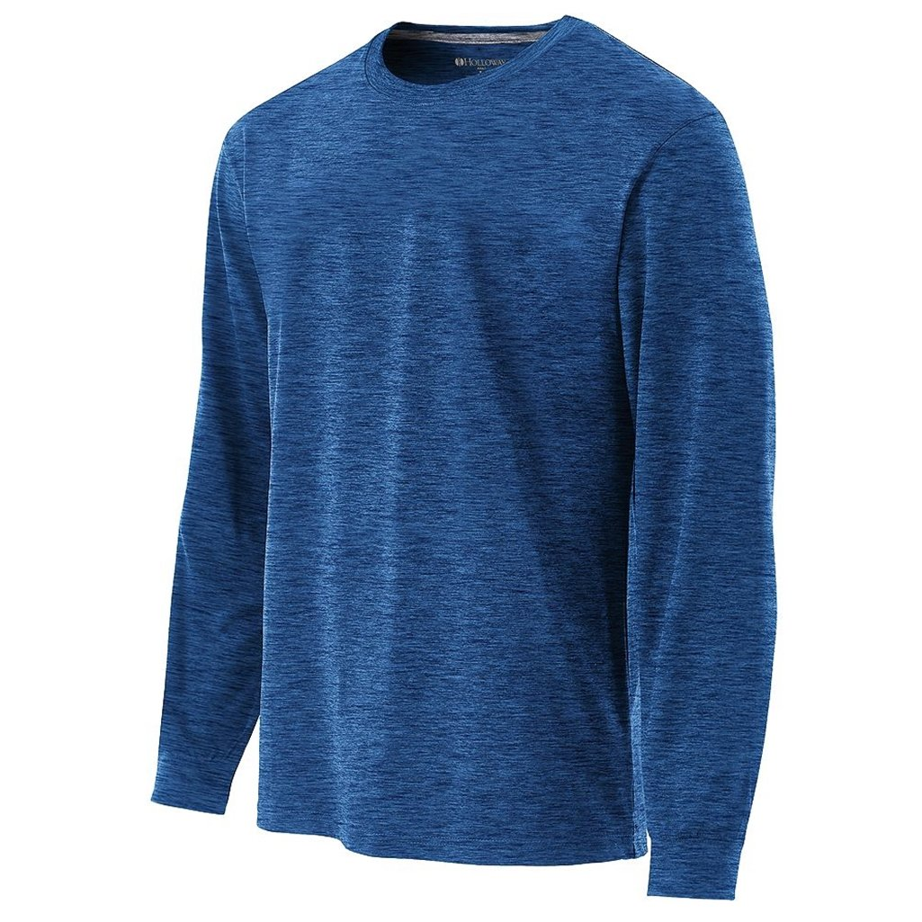 Holloway Youth Dry Electrify Long Sleeve Semi-Fitted Shirt (X-Large, Royal Heather) by Holloway