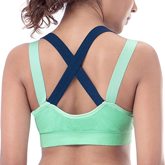 86569647dc WEBBOON Padded Sports Bra for Running
