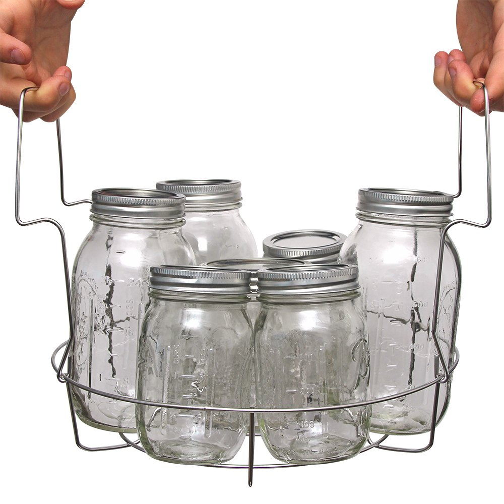 Stainless Steel Canning Rack, with Jar Dividers, by VICTORIO VKP1057 by Victorio (Image #5)