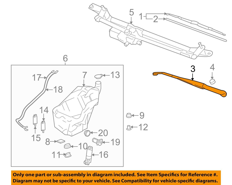General Motors 15214345 Windshield Wiper Arm
