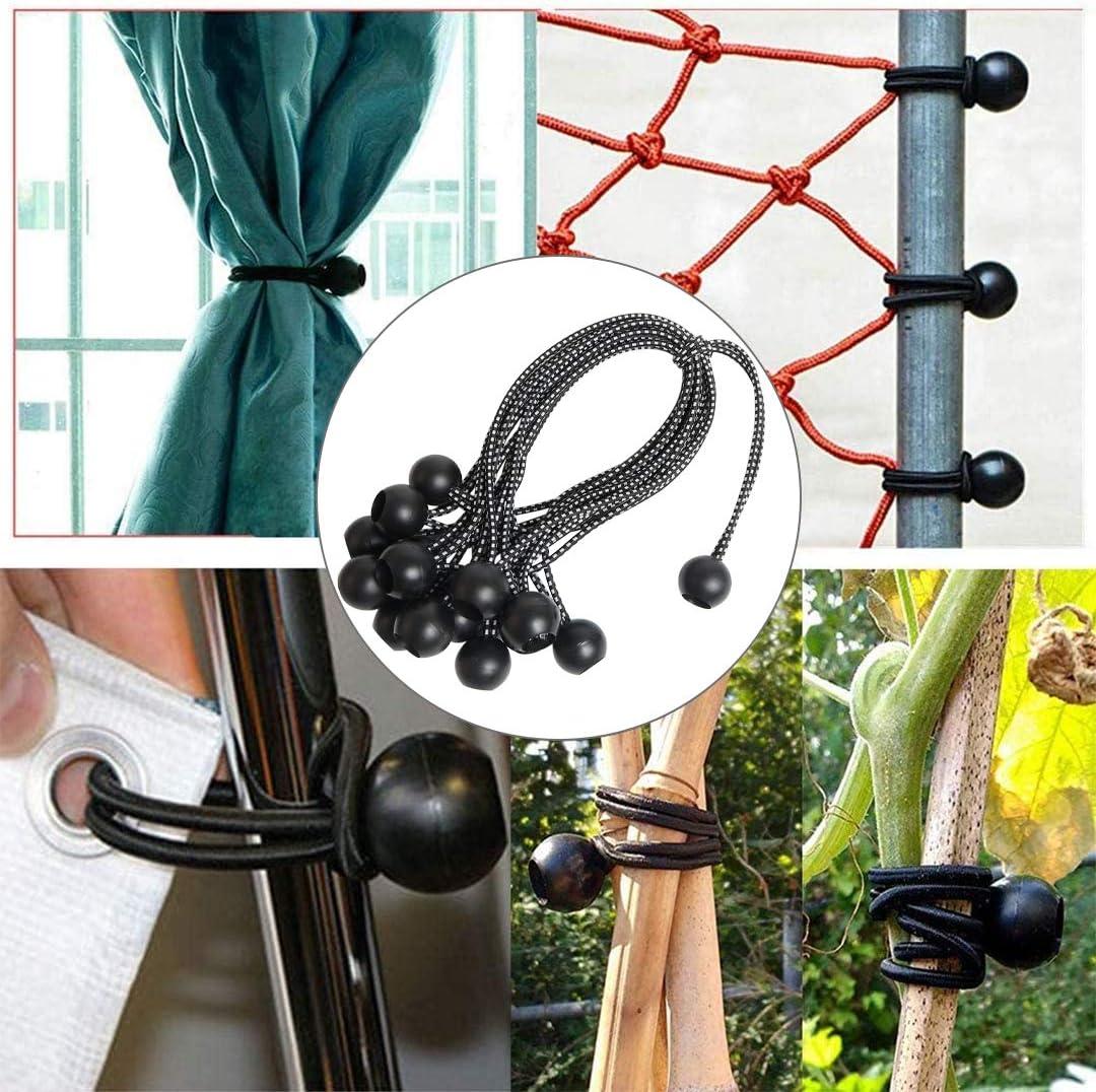 soporte de lona ganchos de lona ganchos de tienda de campa/ña Mingjing Cordones profesionales para pancartas o lonas carpas de campa/ña bola de cuerda el/ástica rizos de extensi/ón