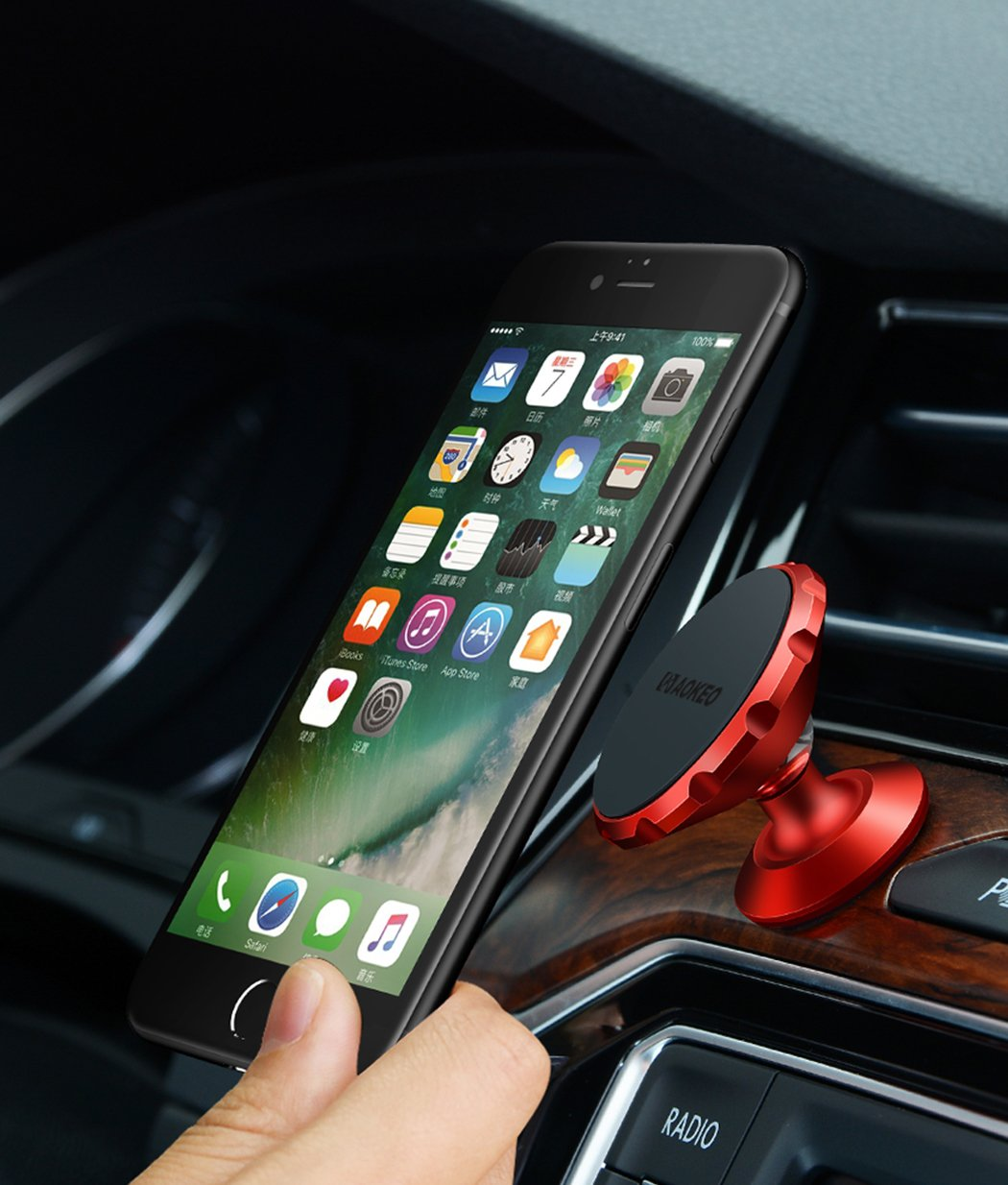 Car Phone Mount Samsung Galaxy S5//S6//S7//S8 4352727753 Aokeo Universal 360/° Rotational Magnetic Phone Holder: Universal Cradle Stand Holder for iPhone 8//X//7//7 Plus//6s//6 Plus//5s Huawei Rose Gold Metal