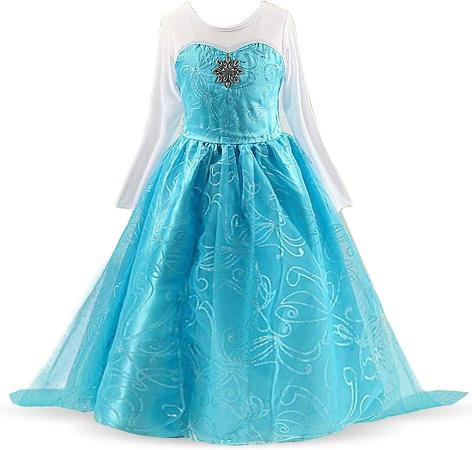 Nileafes Girls Princess Fancy Costume Toddler Birthday Party Cosplay Dress