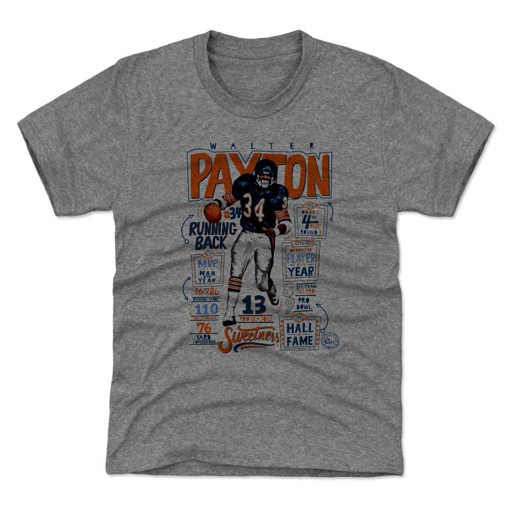 500レベルのウォルターPaytonユース&キッズTシャツ – ヴィンテージシカゴフットボールのファンギア&スポーツアパレル – Walter Payton Stats B Kids Large (10-12Y) Tri Gray B07B795ZS2
