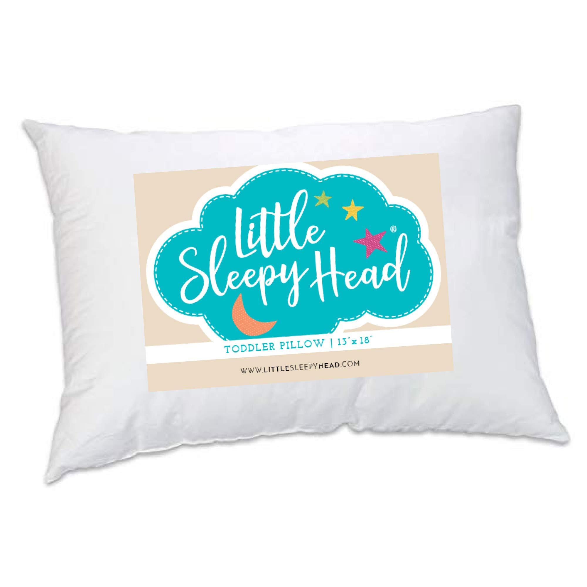 Little Sleepy Head Toddler Pillow 13x18, Made in USA, Baby Pillow for Sleeping by Little Sleepy Head