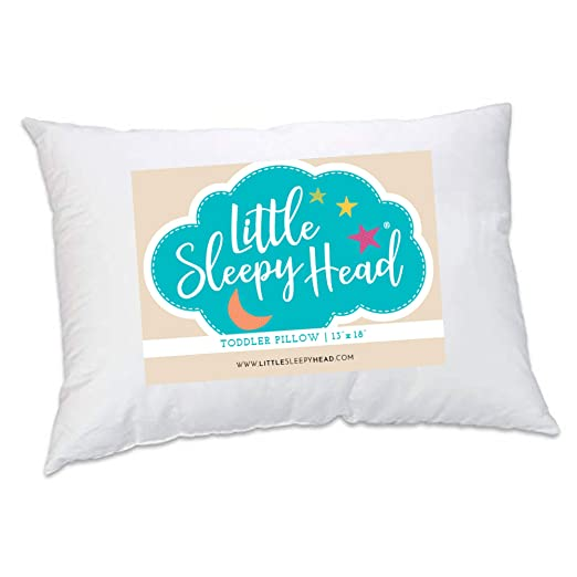 Little Sleepy Head Toddler Pillow, White, 13 X 18 - Supportive and Durable