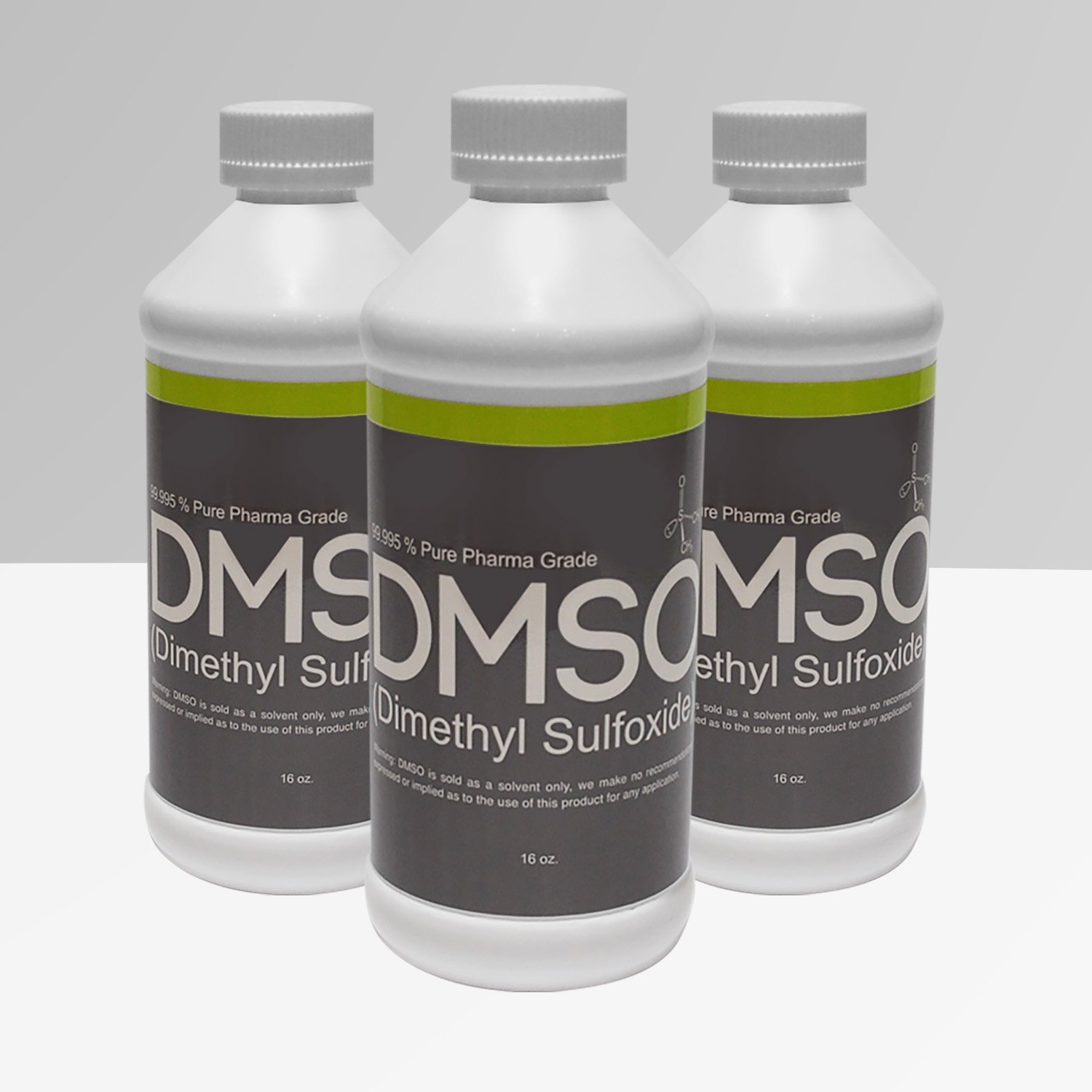 3 Bottles of 16 oz Low Odor DMSO 99.995% Pure Pharma Grade, BPA FREE