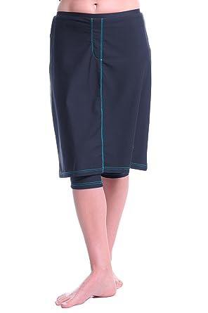 d1cafae8ca9 Womens Splash Down Denim Swim n' Sport Skirt by HydroChic (attached  leggings)