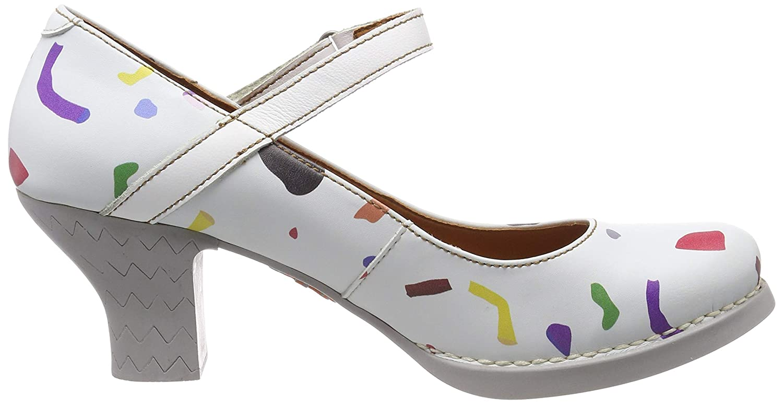 ART 0933f Fantasy Confeti White//Harlem Zapatos de tac/ón con Punta Cerrada para Mujer