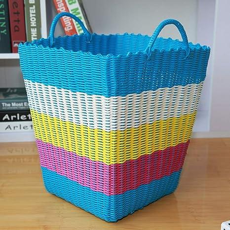 Caja de almacenamiento de ratán de plástico cesta de regalo ...