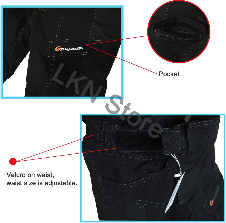 con fodera termica rimovibile LVNRIDS Pantaloni protettivi impermeabili per moto