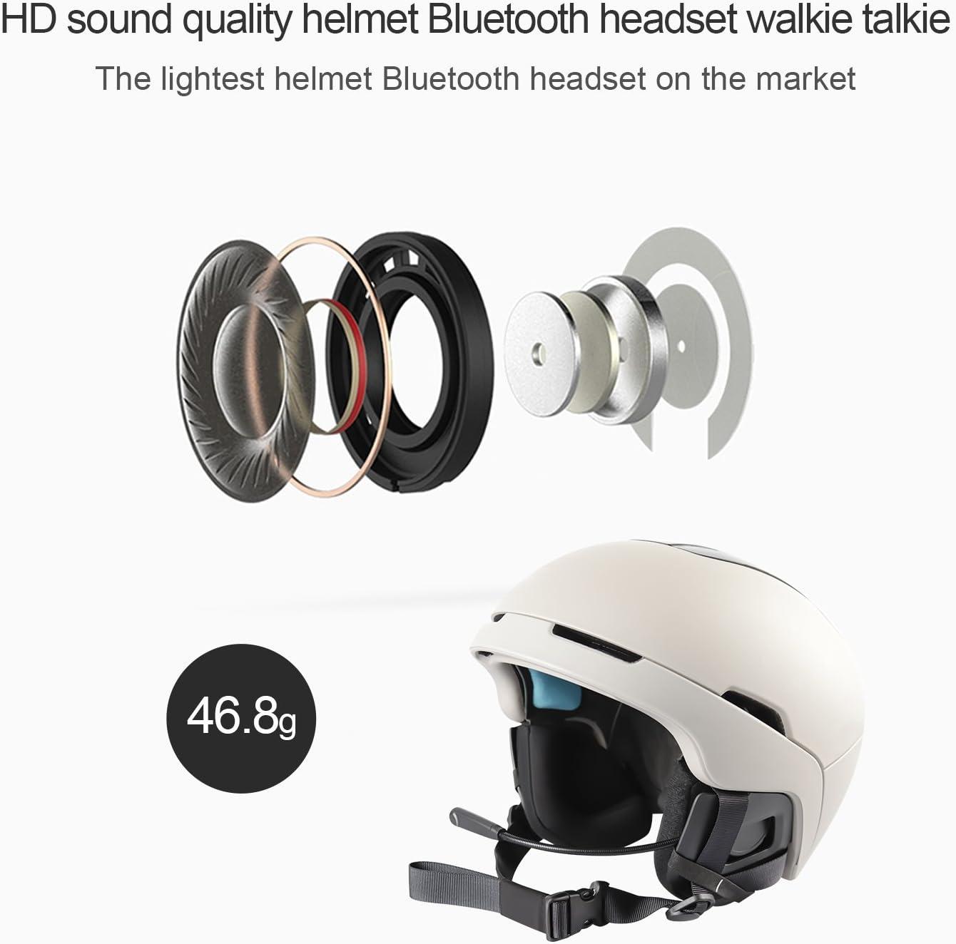 YUZEU Cuffie Bluetooth 4.1 per Casco da Moto,E1 Bluetooth 4.1 Navigatore con controllo del rumore DSP,12 ore di riproduzione,Interfono Cuffia e Microfono Sportivo per Sci Bicicletta Arrampicata
