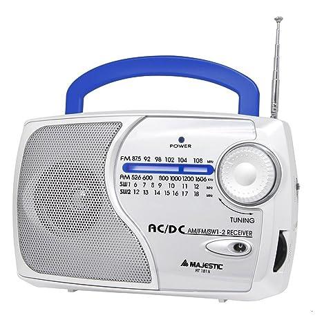 New Majestic Rt 181n Portatile Analogico Blu Bianco Radio Amazon