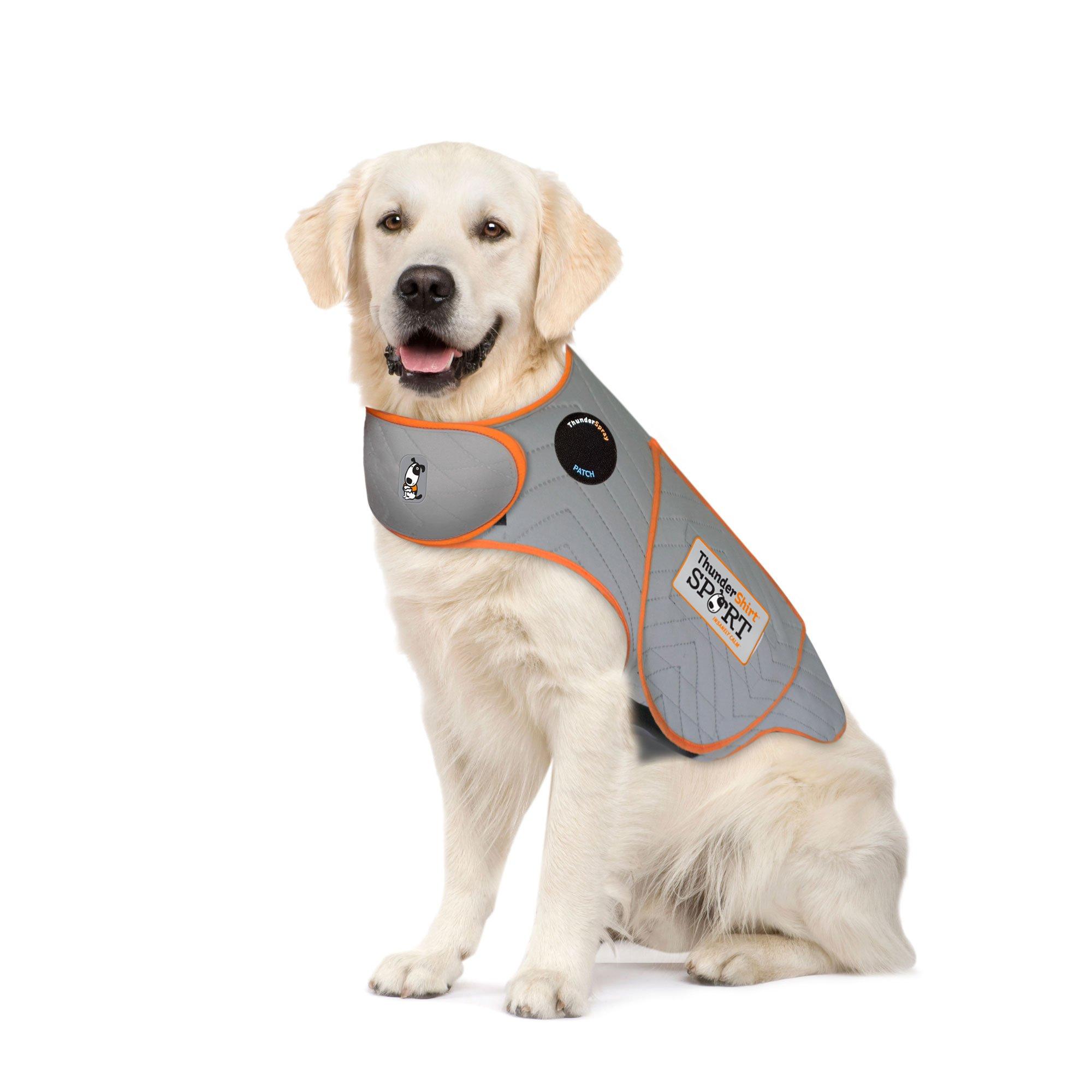 Thundershirt SPORT Dog Anxiety Jacket, Platinum, X-Large