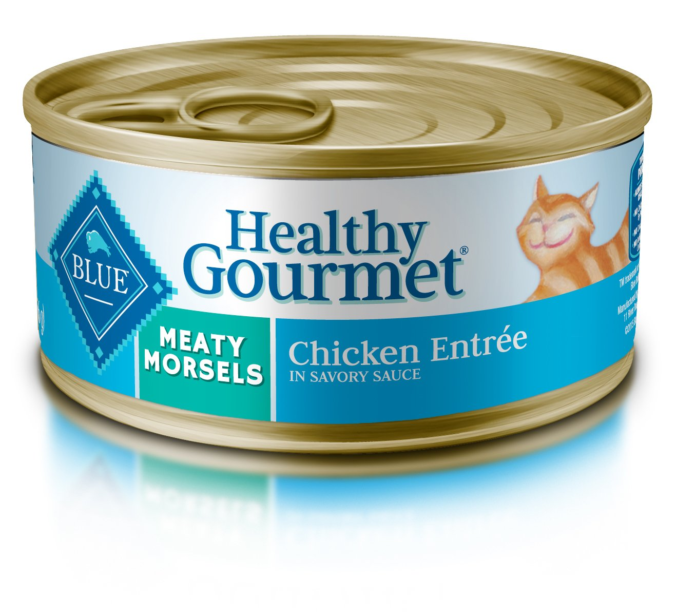 Blue Buffalo Healthy Gourmet Natural Adult Meaty Morsels Wet Cat Food, Chicken 5.5-oz cans (Pack of 24) by Blue Buffalo