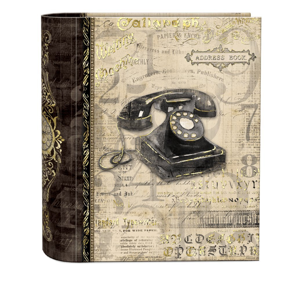 Punch Studio Address Book- #45600 Antique Correspondence by Punch Studio by Punch Studio