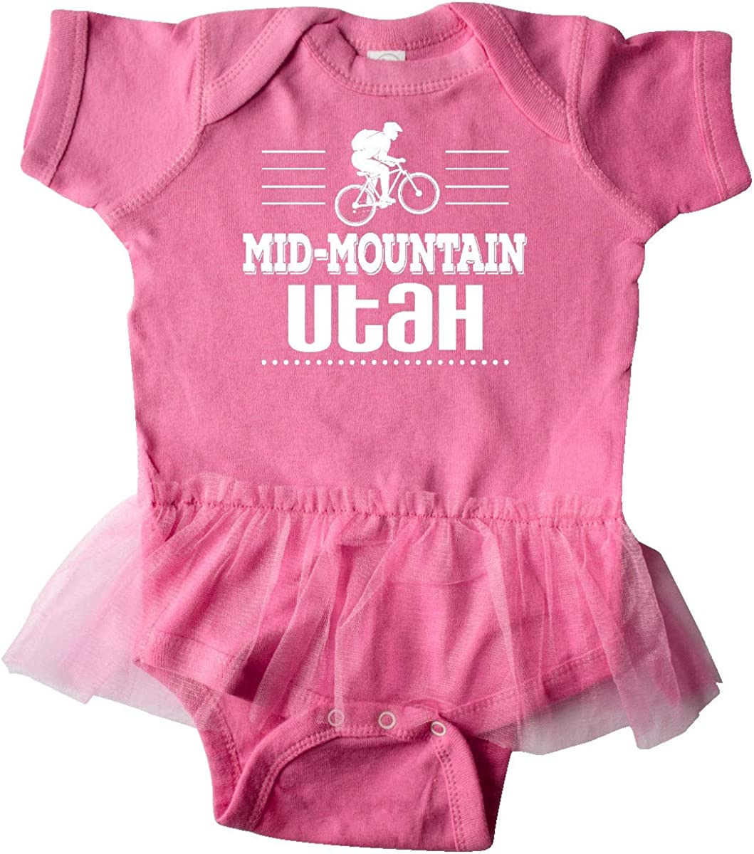 inktastic Mid Mountain Utah Mountain Biking Infant Tutu Bodysuit