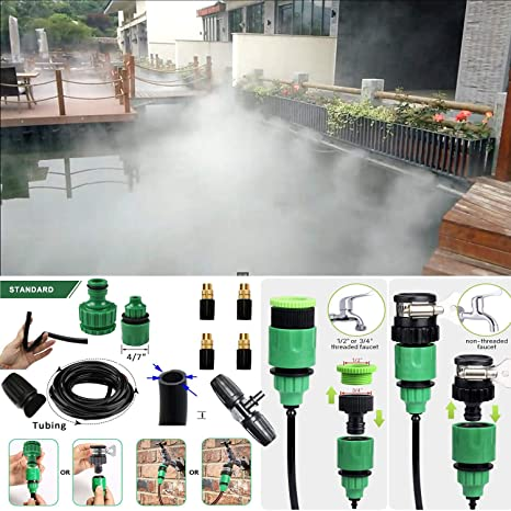 Leak Proof Misting System- Misters for Patio Pool Gazebos Backyard Cooling