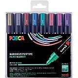 Posca PC5M/8METAL09 Box met 8 markers, verschillende kleuren