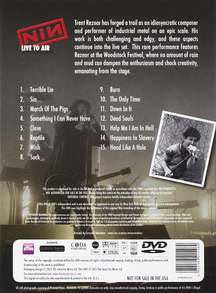 Nine Inch Nails - Live to Air [DVD] [NTSC]: Amazon.co.uk: Nine Inch ...