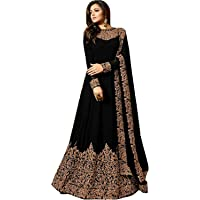 PristiveFashionHub Women's Codding Long Anarkali Gown With Duppta(Free Size)