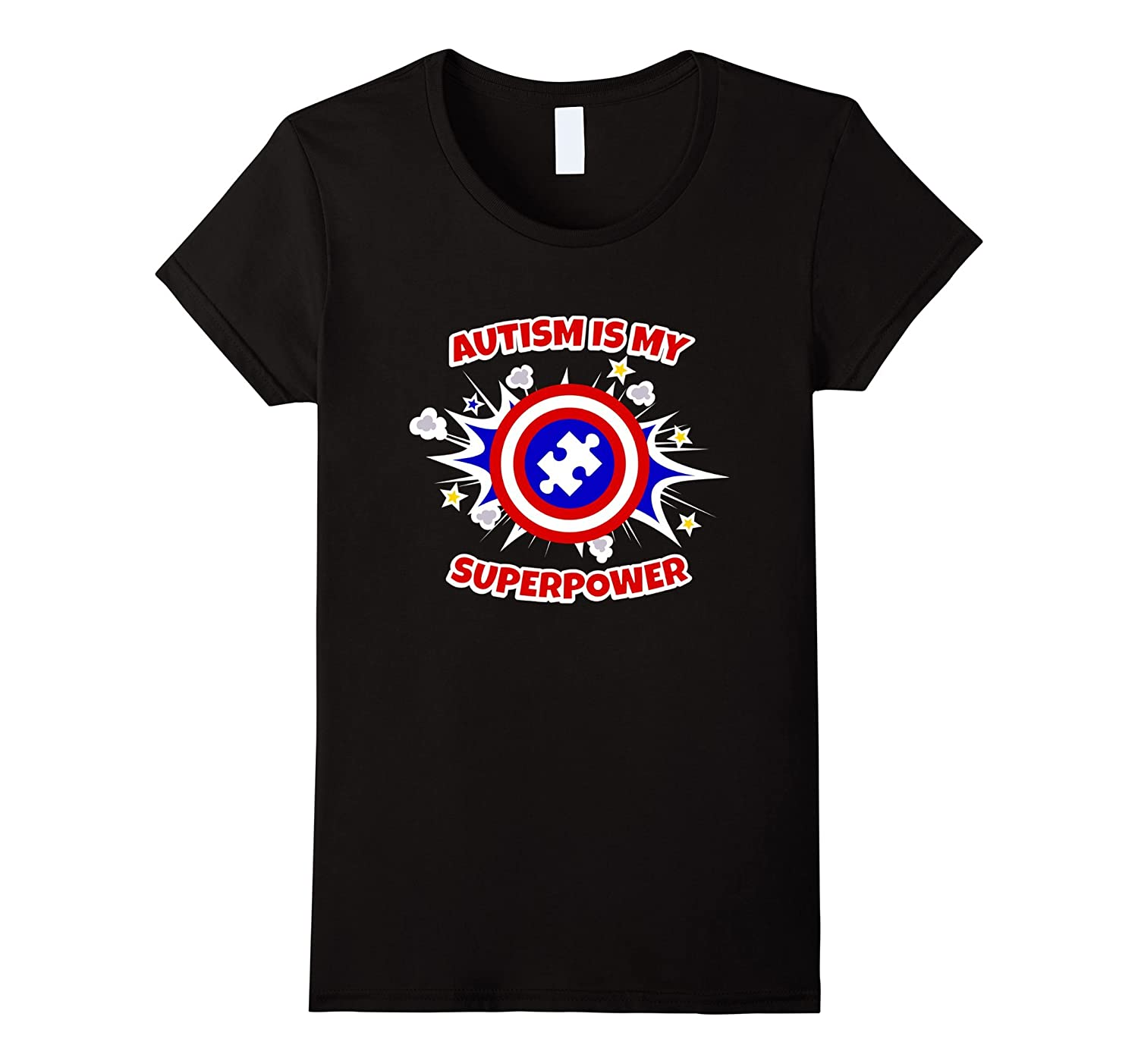 Autism Is My Superpower Awareness ASD Tee Vision T-Shirt