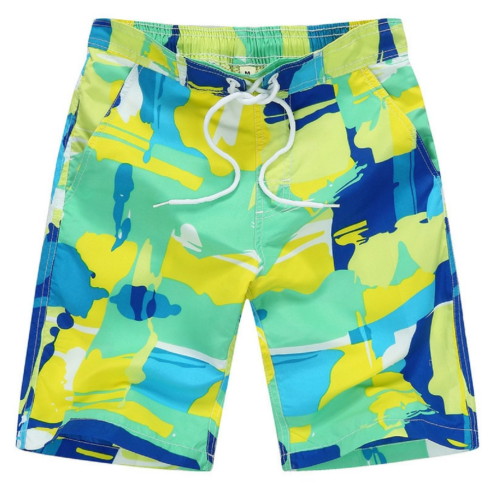 Kute 'n' Koo Big Boy's Swim Shorts, Quick Dry Swim Trunks for Boys GREEN) 1722