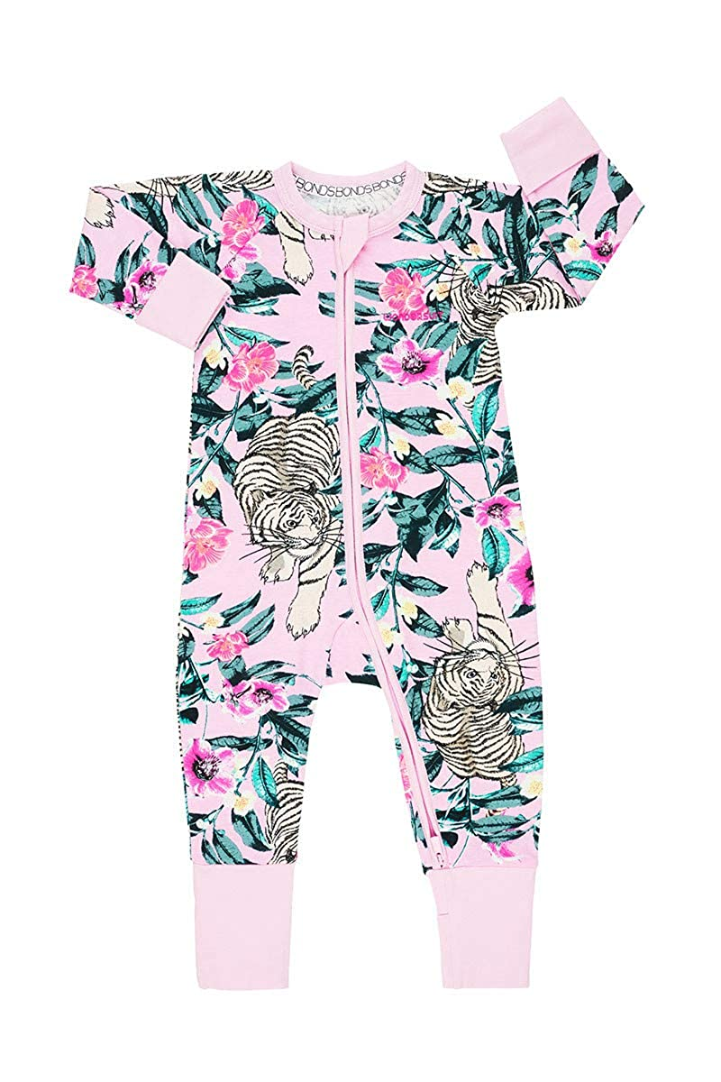 BONDS WONDERSUIT Zippy (Unreal Tiger Pink, 0-3 Months)