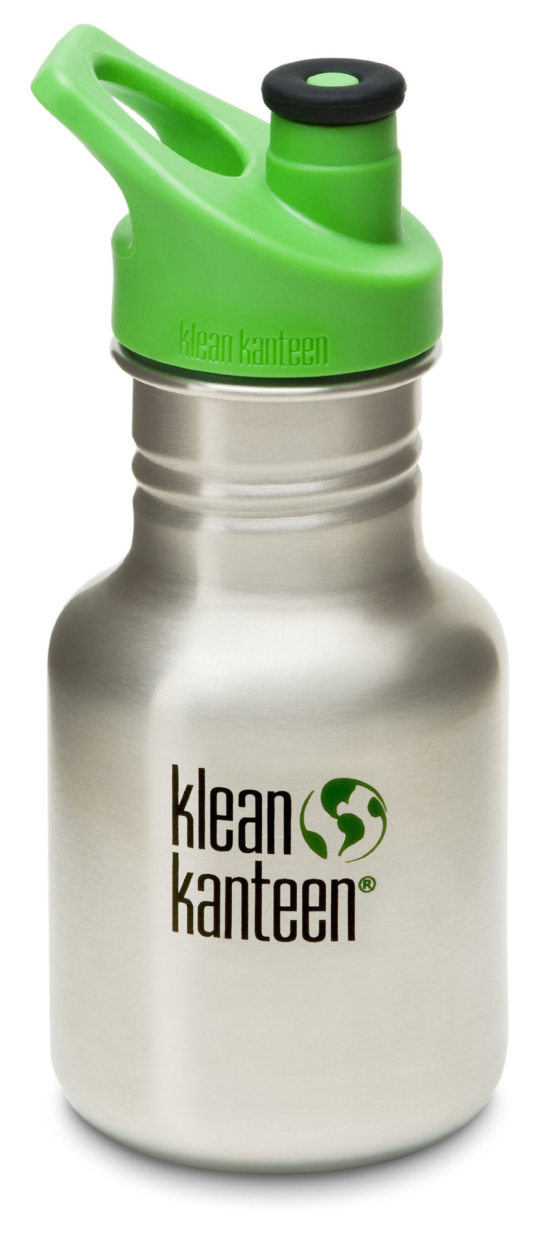 Klean Kanteen Kid Kanteen Classic Sport Single Wall Stainless Steel Kids Water Bottle with Sport Cap 3.0 Brushed Stainless